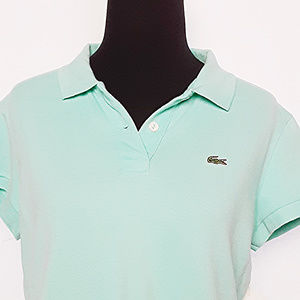Lacoste 44 Small Mint Green Polo Top No Flaws Top